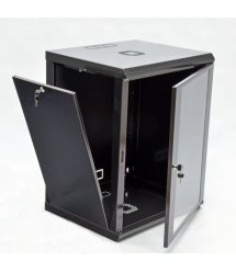 Шафа 15U, 600x600x773мм (Ш*Г*В), економ, акрилове скло, чорна