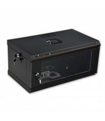 Шафа 4U, 600x350x284мм (Ш*Г*В), економ, акрилове скло, чорна