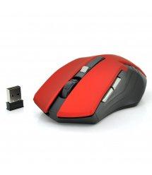 Мышь беспроводная MICE E-2310, 6 кнопок, 800 / 1200 / 1600 DPI, 2.4Ghz 10м, Win7 / 8 / 10 Mac OS, 2*AAA, Red, COLOR BOX, Q60