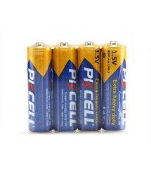 Батарейка солевая PKCELL 1.5V AA / R6, 4 штуки shrink цена за shrink, Q15