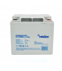 Аккумуляторная батарея MERLION GL12400M6 12 V 40 Ah ( 198 x 165 x 170 ) White Q1