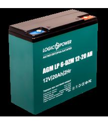 Аккумулятор тяговый свинцево-кислотный AGM LogicPower LP 6-DZM-20 12-20 AH