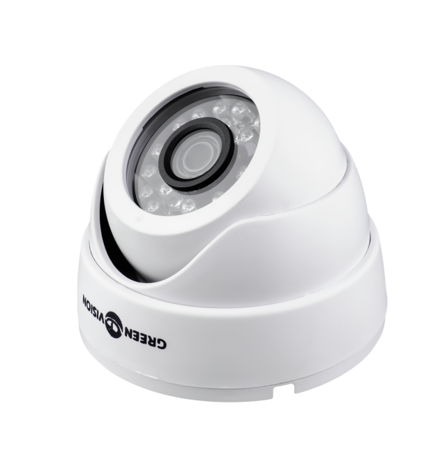 Гибридная купольная камера для внутренней установки GreenVision GV-037-GHD-H-DIS20-20 1080p