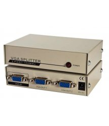 Активный сплиттер VGA сигнала KV-FJ1502A 150MHz 2 Port, DC5V / 2A, Gold
