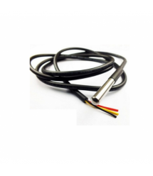 Датчик температуры DS18B20 под пайку, длина кабеля 1,0м