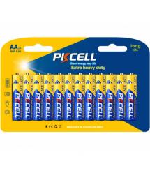 Батарейка солевая PKCELL 1.5V AA / R6, 24 штуки в блистере цена за блистер, Q12