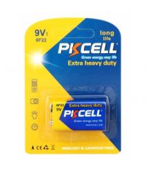Батарейка солевая PKCELL 9V / 6LR61, крона, 1 штука в блистере цена за блистер, Q10