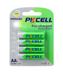 Аккумулятор PKCELL 1.2V AA 600mAh NiMH Already Charged, 4 штуки в блистере цена за блистер, Q12