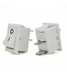 Переключатель ON-OFF KCD1-101, 250VAC / 6A, 2 контакта, White, Q200
