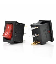 Переключатель ON-ON KCD1-102N, 250VAC / 6A, 3 контакта, Red, Q200