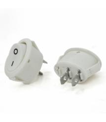Переключатель ON-OFF KCD1-301, 250VAC / 6A, 2 контакта, White, Q100
