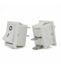 Переключатель ON-OFF KCD11-101 Small, 250VAC / 3A, 2 контакта, White, Q500