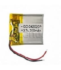 Литий-полимерный аккумулятор 4*20*20mm (Li-ion 3.7В 200мАч)