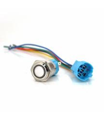 Кнопка с фиксацией 3A 220V значок Power, цена за штуку