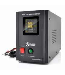 ИБП с правильной синусоидой Europower PSW-EPB500TW12 (300 Вт) 5 / 10А, под внешнюю АКБ 12В , Q2 (415*200*280) 5,23 кг (346*145*2