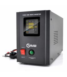 ИБП с правильной синусоидой Europower PSW-EPB800TW12 (480 Вт) 5 / 10А, под внешнюю АКБ 12В , Q2 (415*208*283) 5,79 кг (346*145*2