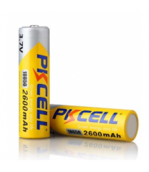 Аккумулятор 18650 PKCELL 3.7V 18650 2600mAh Li-ion rechargeable batery 1 шт в блистере, цена за блистер, Q20