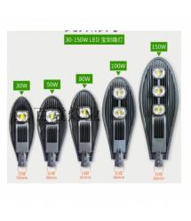 Уличный LED-фонарь, 50W, 6000К, Black