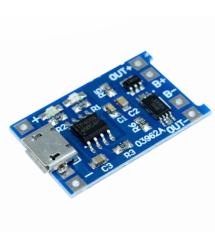 Контроллер заряда для литиевой батареи 18650, 1А, разъем micro-USB