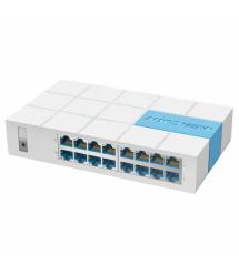 Коммутатор Mercury S116M, 16 портов Ethernet 10 / 100 Мбит / сек, BOX Q14 (280*225*67) 0.56 кг (185*110*38)
