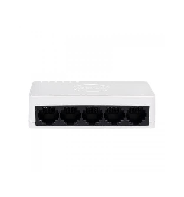 Коммутатор HV DS-3E0105D-E 5 портов Ethernet 10 / 100 Мбит / сек, BOX Q200