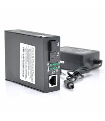 Медиаконвертер YOSO B (IC+113), 1550 WDM одноволоконный Full / Half duplex , SC 25km (0 +70°C), + блок питания 5V 1A Q60