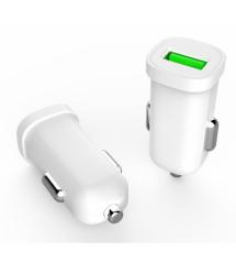 Набор 2 в 1 АЗУ With Iphone Cable DC12-24V MY-10, 1 x USB, 5V - 7.5W, Белый