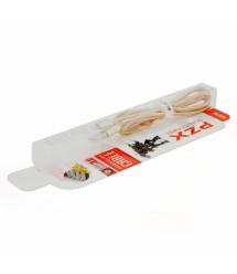 Кабель PZX S-9, Lighting, 2,1A, Gold, длина 1м, BOX