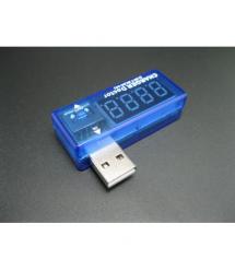 USB тестер Charger Doctor напряжения (3-7.5V) и тока (0-2.5A) Blue, загнутый