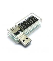 USB тестер Charger Doctor напряжения (3-7.5V) и тока (0-2.5A) White, загнутый
