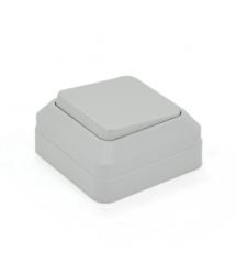 Выключатель одинарный наружного монтажа, White, Q10