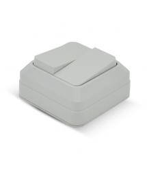 Выключатель двойной наружного монтажа, White, Q10