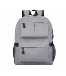 """Рюкзак для ноутбука 15.6"""", материал нейлон, выход под USB-кабель, серый, Q50"""