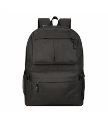 """Рюкзак для ноутбука 15.6"""", материал нейлон, выход под USB-кабель, черный, Q50"""