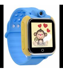 "Детские часы-телефон с GPS-трекером GW1000, цветн. сенс. экран 1.54"", micro-SIM, позиц. GPS, LBS / Wi-Fi, виброзв., датч. снятия"