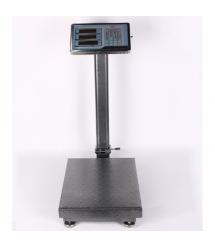 Весы торговые электронные TCS-100 (100кг) со стойкой и счетчиком цены