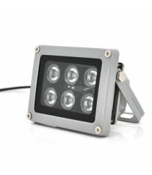 ИК прожектор YOSO 12V 10W, 6LED, IP66, 850Нм, угол обзора 60, линза 6мм, дальность до 30м, 114*86*86мм, BOX