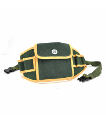 Сумка для монтажных инструментов Rongkai на пояс, зелено-желтая