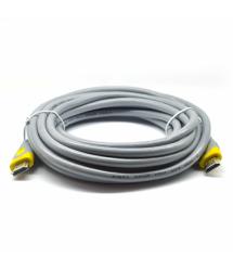 Кабель HDMI-HDMI V-Link High Speed 15.0m, v2,0, OD-8.2mm, круглий Grey, коннектор Grey / Yellow, (Пакет), Q25