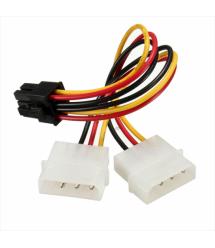 Кабель-переходник для питания видеокарты 4+4P--6P, OEM Q50