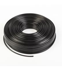 Телефонный кабель Merlion 4 жильный 28awg CCS 100метров в бухте черный