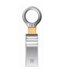 Флэш-накопитель Remax RX-802, Chip: Samsung, USB 2.0, 64GB, 5V, 7.25 - 21.3MByte - s, Pearl Silver, Алюминиевый сплав, BOX