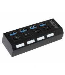 Хаб USB 3.0, 4 порта, с переключателями, поддержка до 1TB, Пакет
