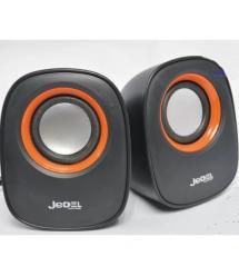Колонки 2.0 JEDEL JD-M600 (Q-106) USB+3.5mm, 2x3W, 90Hz- 20KHz, с регулятором громкости, Black / Orange, BOX, Q50