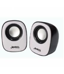 Колонки 2.0 JEDEL JD-M600 USB+3.5mm, 2x3W, 90Hz- 20KHz, с регулятором громкости, Black / Blue, BOX, Q50