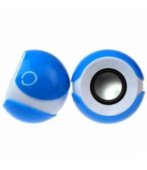 Колонки 2.0 JEDEL JD-S609 / T-300 USB+3.5mm, 2x3W, 90Hz- 20KHz, с регулятором громкости, Blue / White, BOX, Q50