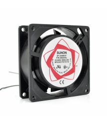 Кулер для охлождения серверных БП SUNON 8025 DC sleeve fan 2pin под пайку - 80*80*25мм, 220V, 2600об / мин