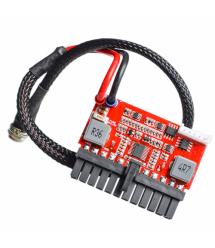 Дополнительный модуль-плата питания для материнской платы Pico PSU ITX Z1 DC-ATX-160W, 24Pin, 12V, RESET, 4pin+Molex + SATA