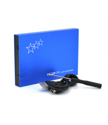 Карман ShuoLe U25E30, 2,5алюминиевый корпус,интерфейс USB2.0 SATA, blue