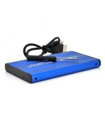 "Карман ShuoLe-U35E-SATA, 2,5""алюминиевый корпус,интерфейс USB2.0 SATA, blue"